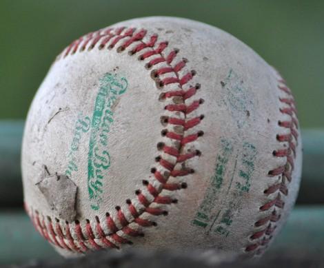 A_worn-out_baseball